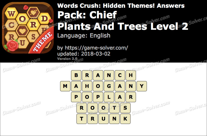 Words Crush Chief-Plants And Trees Level 2 Answers
