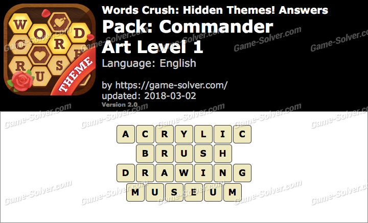 Words Crush Commander-Art Level 1 Answers