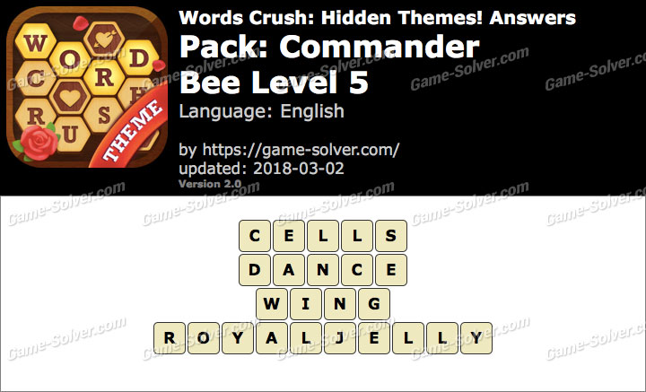 Words Crush Commander-Bee Level 5 Answers