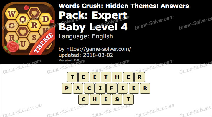 Words Crush Expert-Baby Level 4 Answers