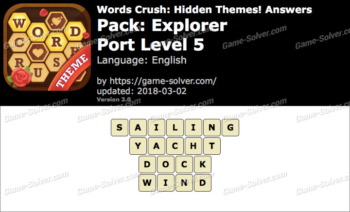 Words Crush Explorer-Port Level 5 Answers