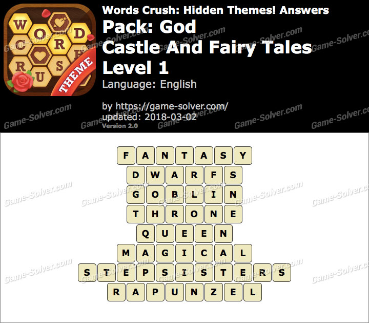 Words Crush God-Castle And Fairy Tales Level 1 Answers