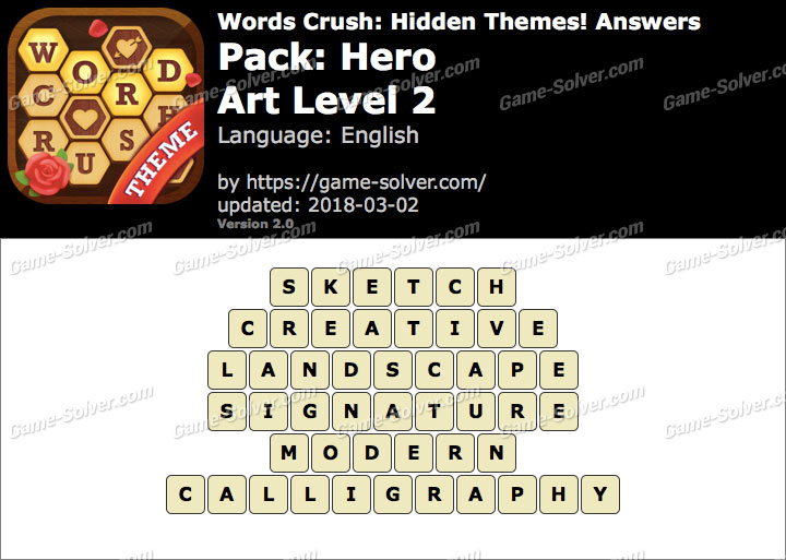 Words Crush Hero-Art Level 2 Answers