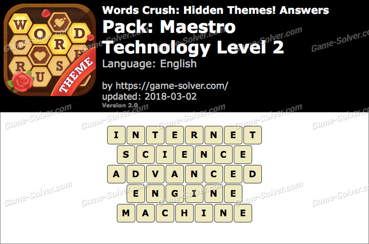 Words Crush Maestro-Technology Level 2 Answers