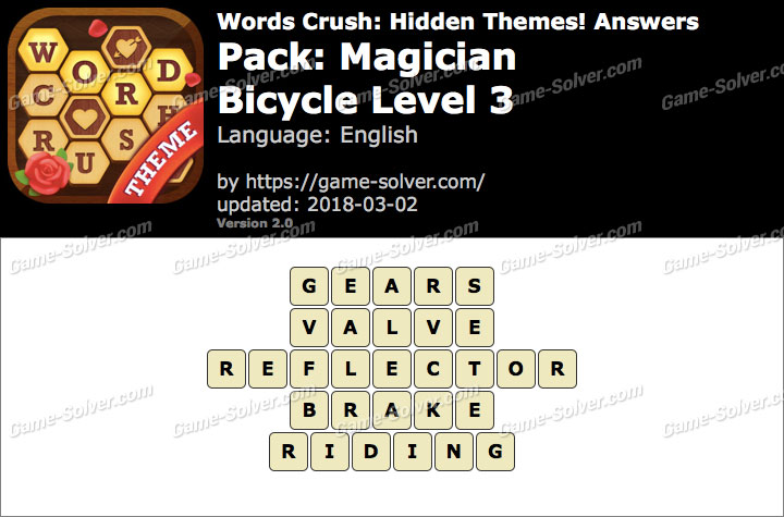 Words Crush Magician-Bicycle Level 3 Answers