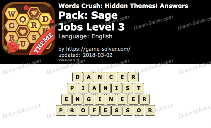 Words Crush Sage-Jobs Level 3 Answers