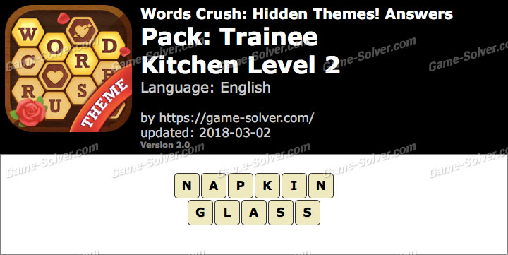 Words Crush Trainee-Kitchen Level 2 Answers