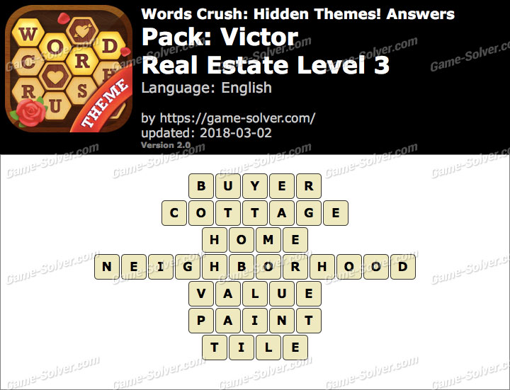 Words Crush Victor-Real Estate Level 3 Answers