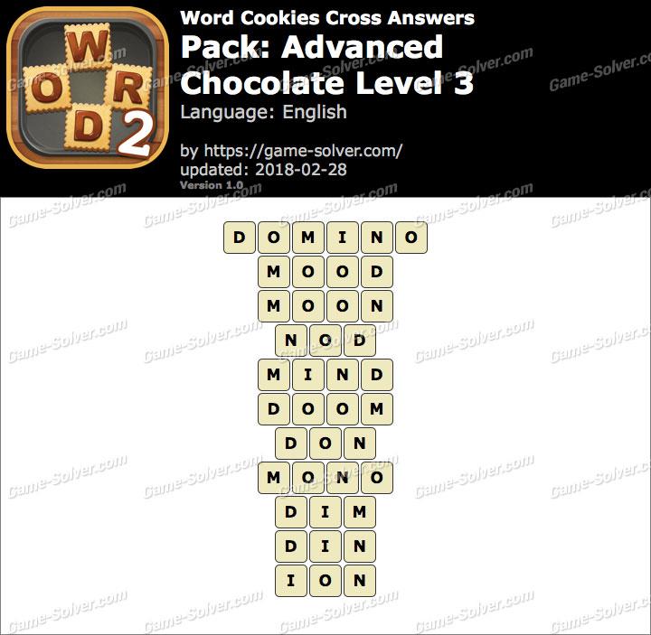 Word Cookies Cross Advanced-Chocolate Level 3 Answers