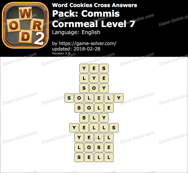 Word Cookies Cross Commis-Cornmeal Level 7 Answers