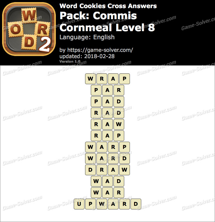 Word Cookies Cross Commis-Cornmeal Level 8 Answers