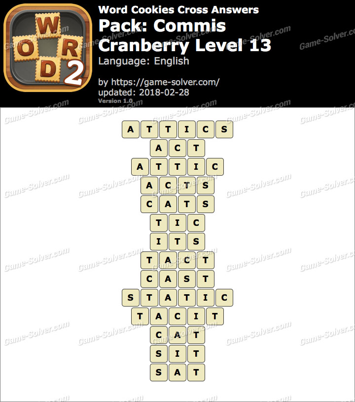 Word Cookies Cross Commis-Cranberry Level 13 Answers