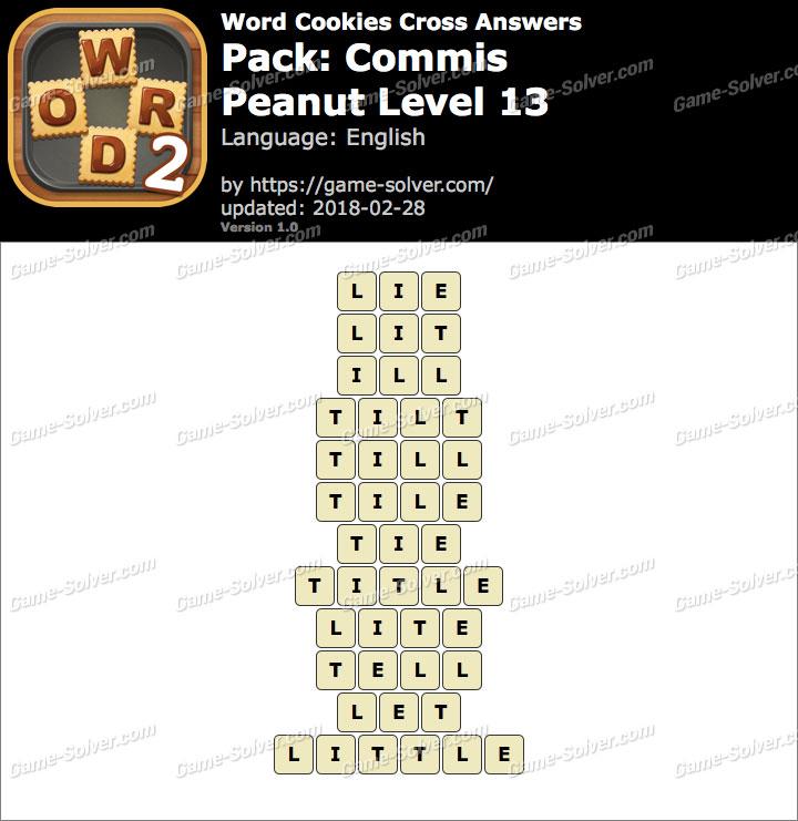 Word Cookies Cross Commis-Peanut Level 13 Answers