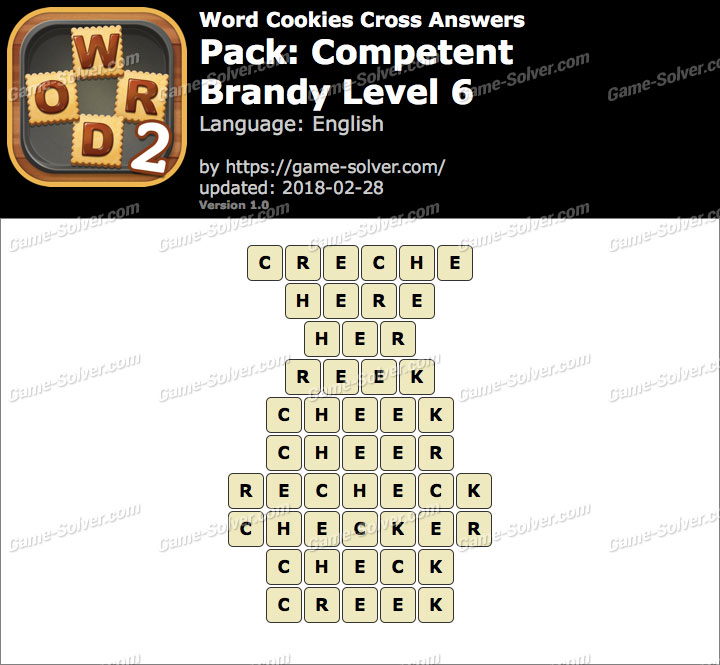 Word Cookies Cross Competent-Brandy Level 6 Answers