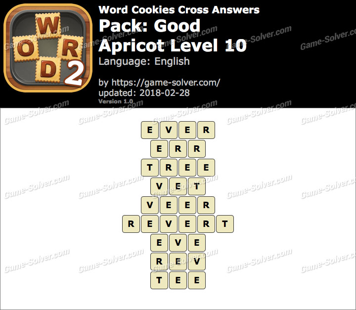 Word Cookies Cross Good-Apricot Level 10 Answers
