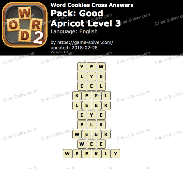 Word Cookies Cross Good-Apricot Level 3 Answers