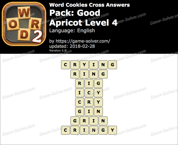 Word Cookies Cross Good-Apricot Level 4 Answers