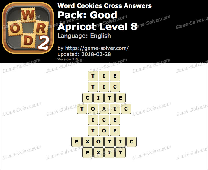 Word Cookies Cross Good-Apricot Level 8 Answers