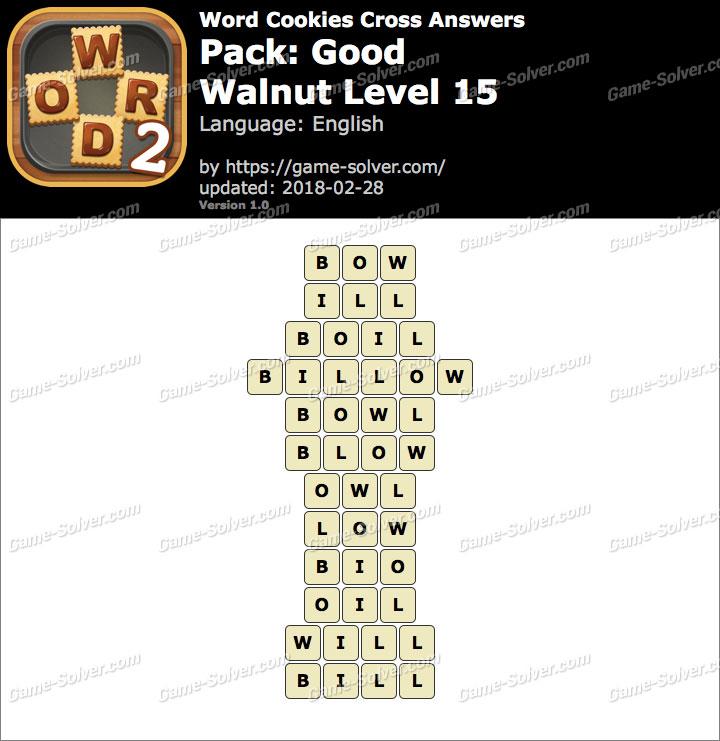 Word Cookies Cross Good-Walnut Level 15 Answers