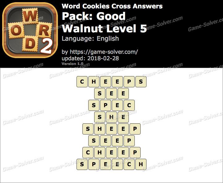 Word Cookies Cross Good-Walnut Level 5 Answers