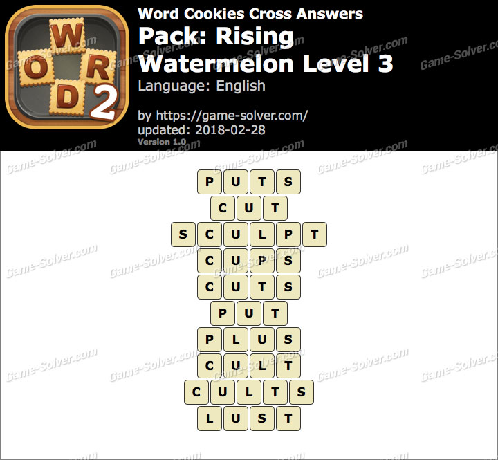 Word Cookies Cross Rising-Watermelon Level 3 Answers
