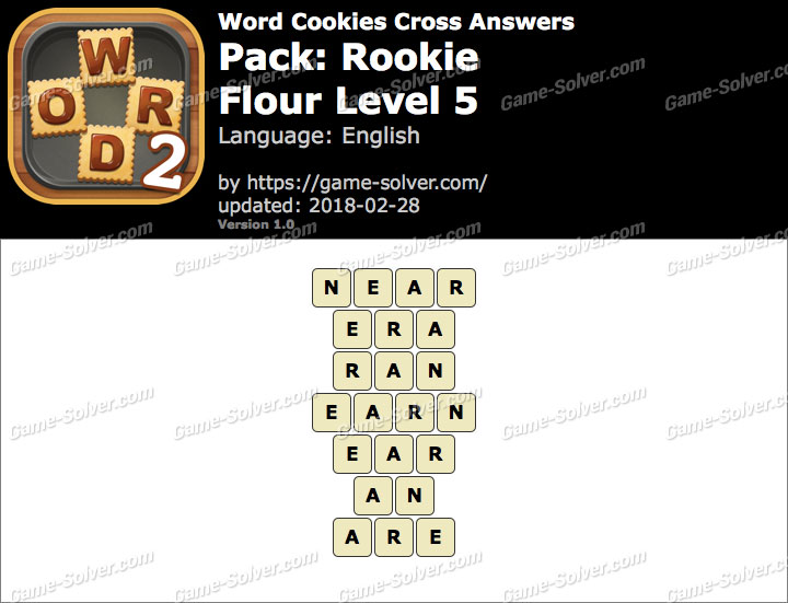 Word Cookies Cross Rookie-Flour Level 5 Answers