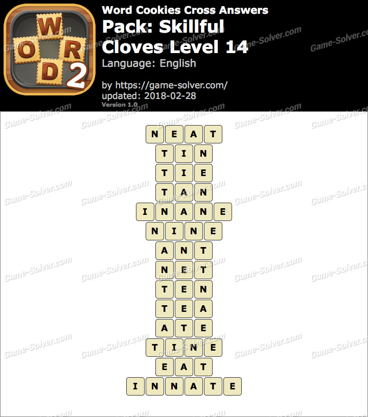 Word Cookies Cross Skillful-Cloves Level 14 Answers