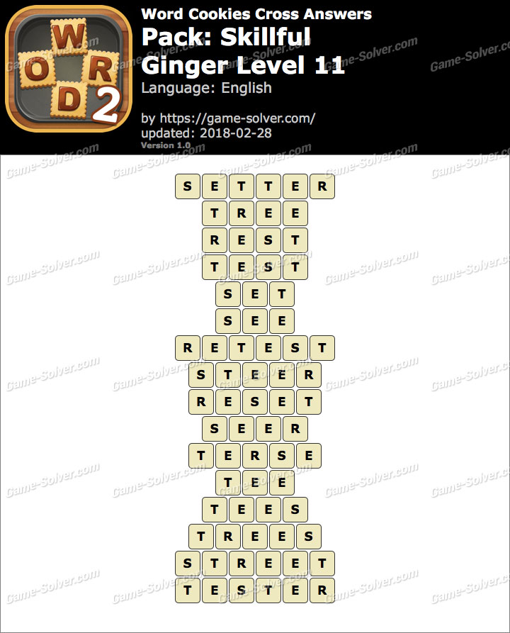 Word Cookies Cross Skillful-Ginger Level 11 Answers