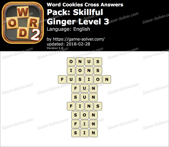 Word Cookies Cross Skillful-Ginger Level 3 Answers