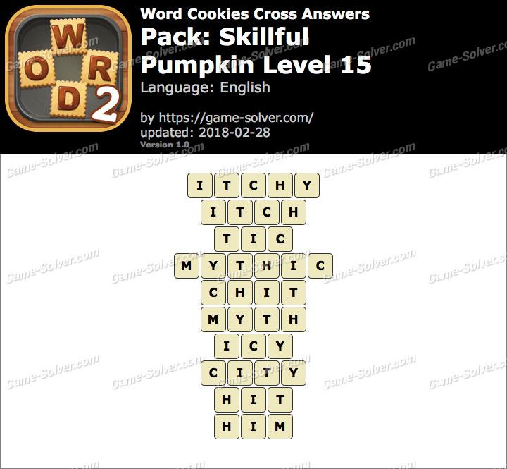 Word Cookies Cross Skillful-Pumpkin Level 15 Answers