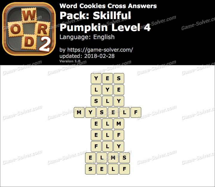Word Cookies Cross Skillful-Pumpkin Level 4 Answers