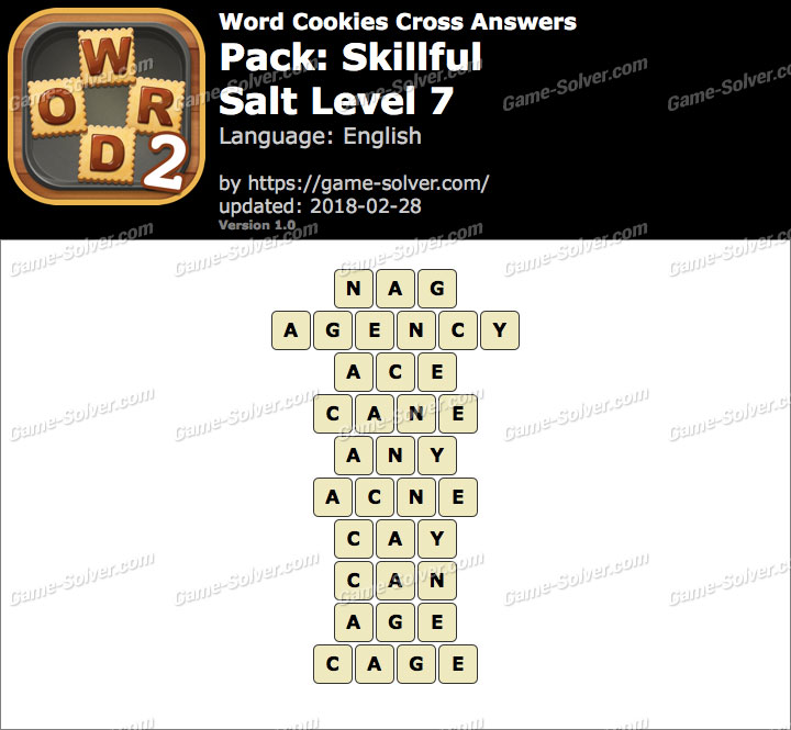 Word Cookies Cross Skillful-Salt Level 7 Answers