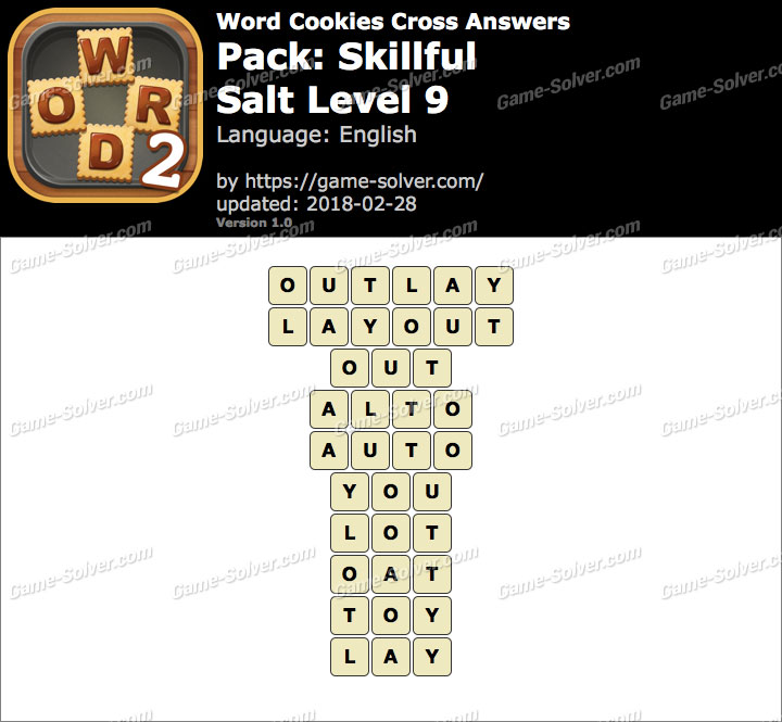 Word Cookies Cross Skillful-Salt Level 9 Answers