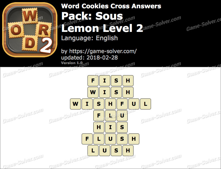 Word Cookies Cross Sous-Lemon Level 2 Answers