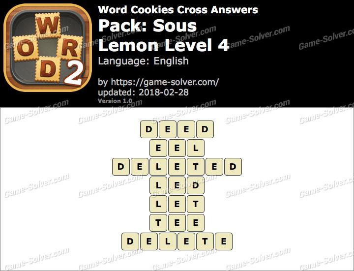Word Cookies Cross Sous-Lemon Level 4 Answers