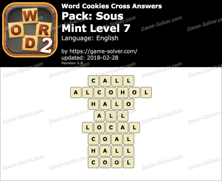 Word Cookies Cross Sous-Mint Level 7 Answers