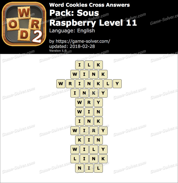 Word Cookies Cross Sous-Raspberry Level 11 Answers