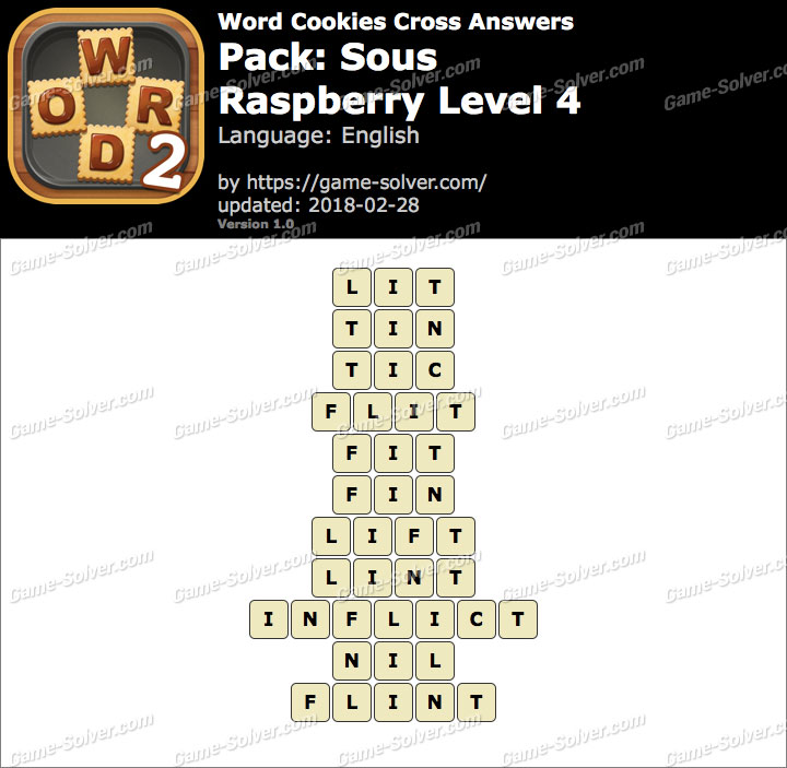 Word Cookies Cross Sous-Raspberry Level 4 Answers