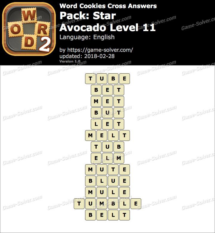 Word Cookies Cross Star-Avocado Level 11 Answers