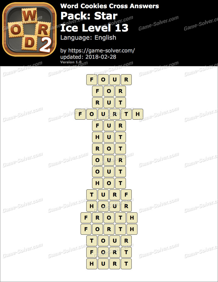 Word Cookies Cross Star-Ice Level 13 Answers