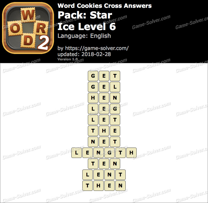Word Cookies Cross Star-Ice Level 6 Answers