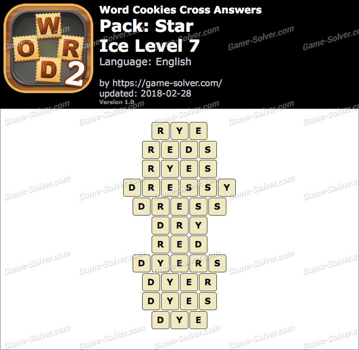 Word Cookies Cross Star-Ice Level 7 Answers