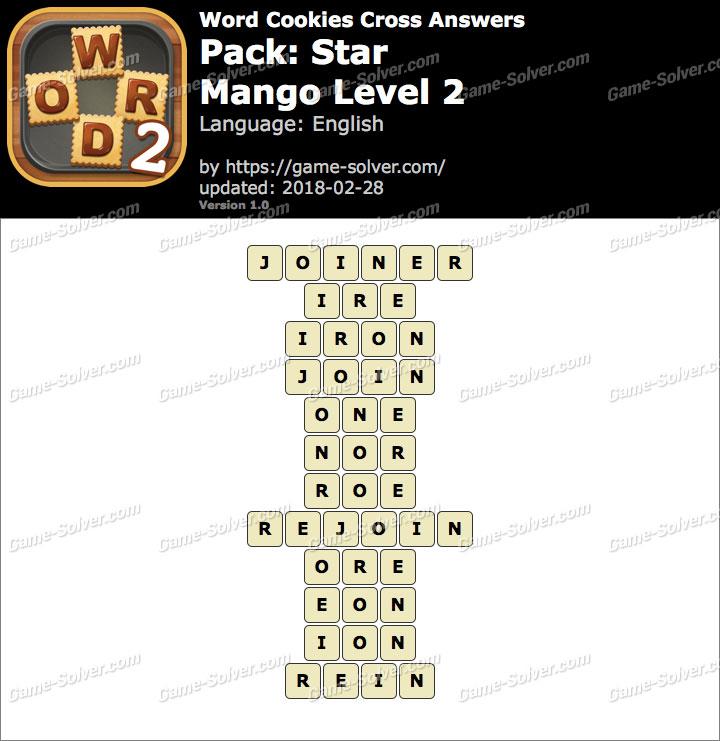 Word Cookies Cross Star-Mango Level 2 Answers