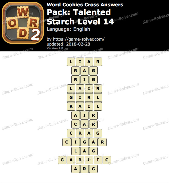 Word Cookies Cross Talented-Starch Level 14 Answers