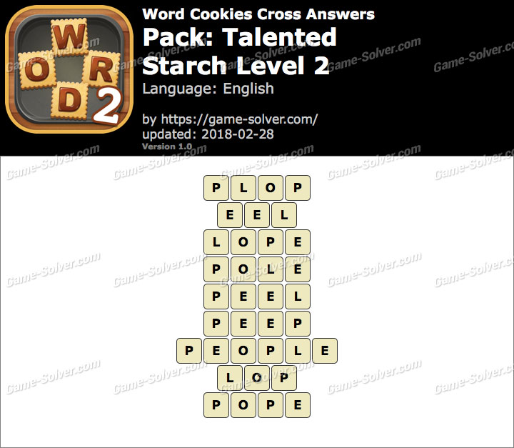 Word Cookies Cross Talented-Starch Level 2 Answers