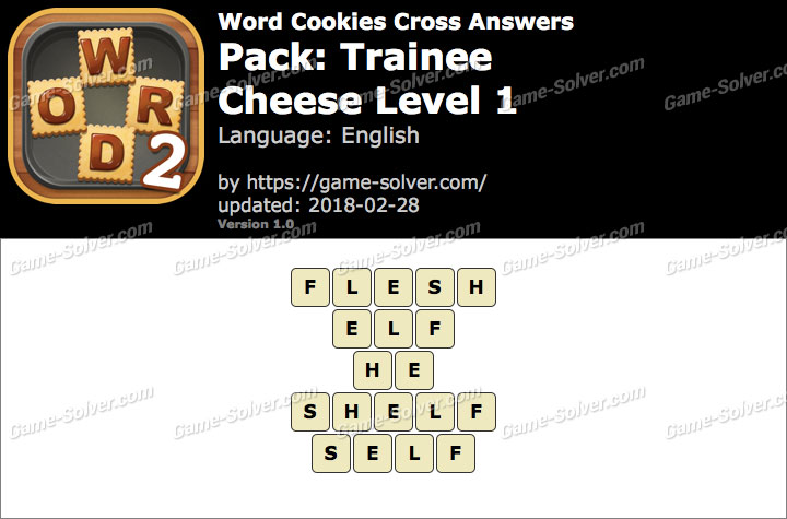 Word Cookies Cross Trainee-Cheese Level 1 Answers