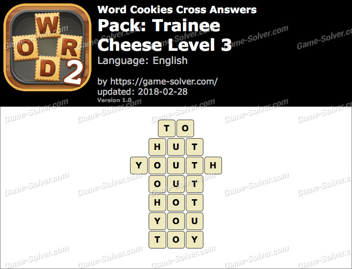 Word Cookies Cross Trainee-Cheese Level 3 Answers