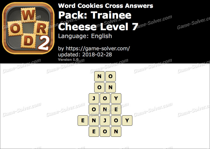 Word Cookies Cross Trainee-Cheese Level 7 Answers