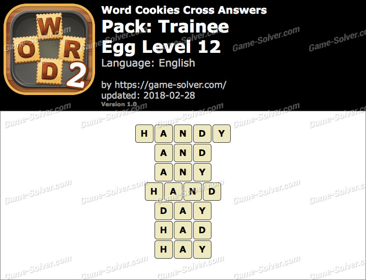 Word Cookies Cross Trainee-Egg Level 12 Answers