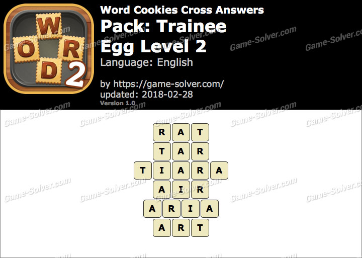 Word Cookies Cross Trainee-Egg Level 2 Answers